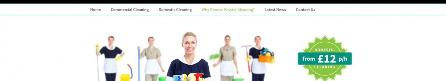 SEO project for Krystal Kleaning - Norfolk commercial cleaners