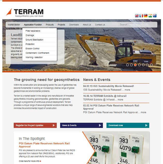 SEO services for Terram Geosynthetics