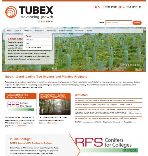 SEO Searh engine optimisation ensured TUBEX became Europe's number one tree protection shelter supplier